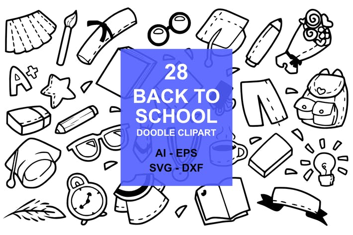 Thumbnail for 28 Back to School Doodles