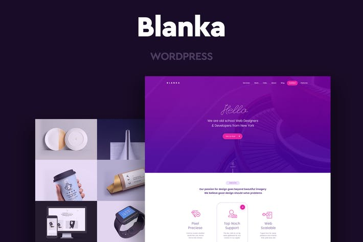 Cover Image For Blanka - One Page WordPress Theme