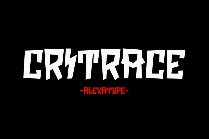 Thumbnail for Critrace - Energetic Display Font