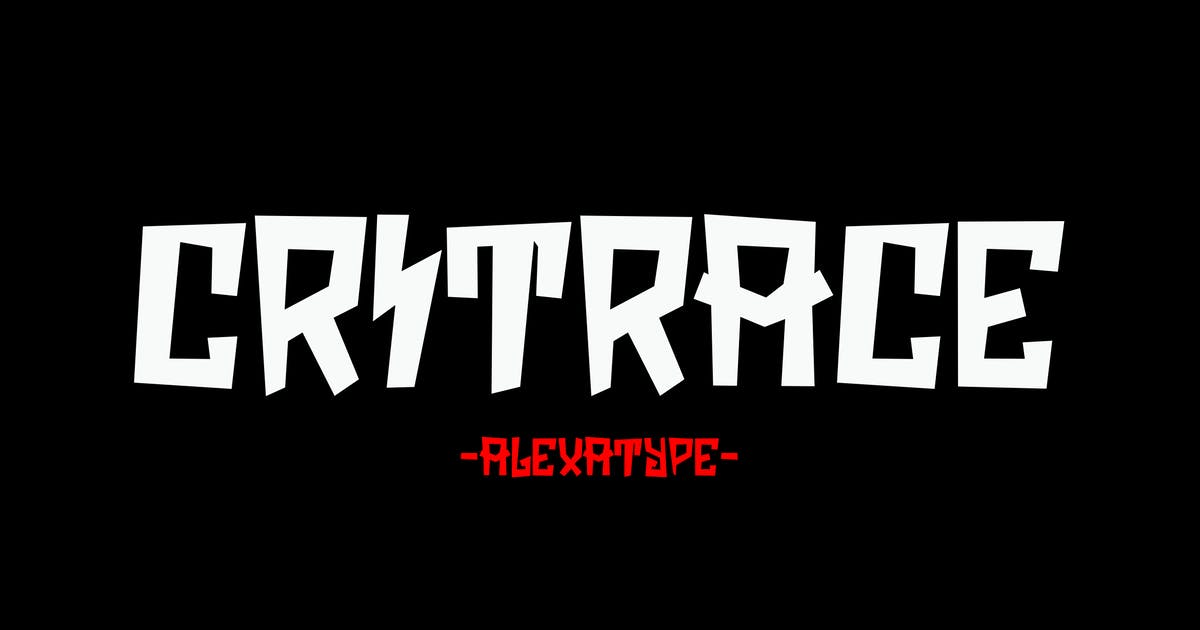 Download Critrace - Energetic Display Font by alexacrib