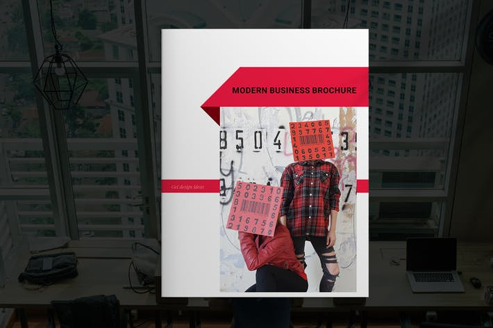 Thumbnail for Modern Red Business Brochure