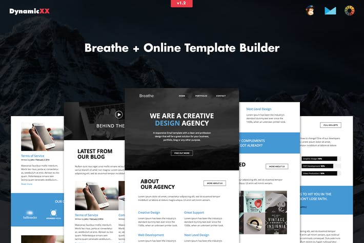 Thumbnail for Breathe - Responsive Agency Email + Online Builder