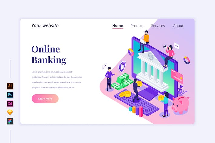 Thumbnail for Agnytemp - Online Banking Isometric