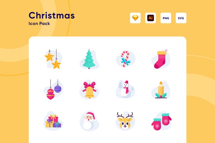 Thumbnail for Merry Christmas Icon Pack