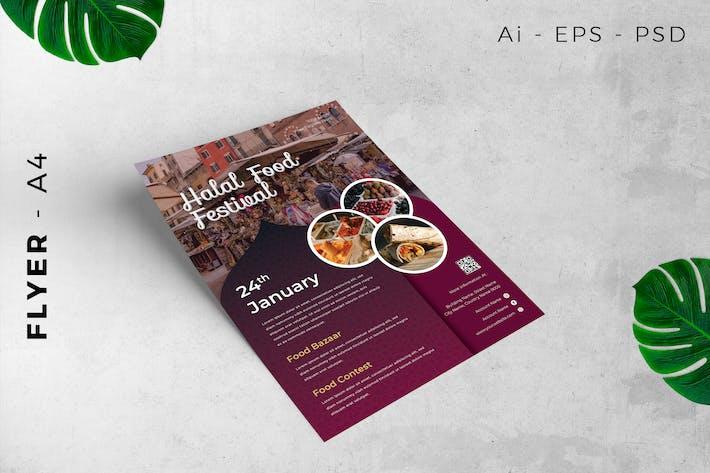 Event Flyer Halal Food Festival
