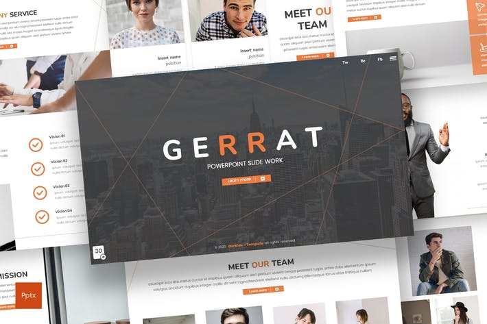 Thumbnail for Gerrat - Business Powerpoint Template