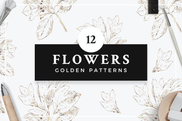 Thumbnail for Golden Flower Patterns Collection