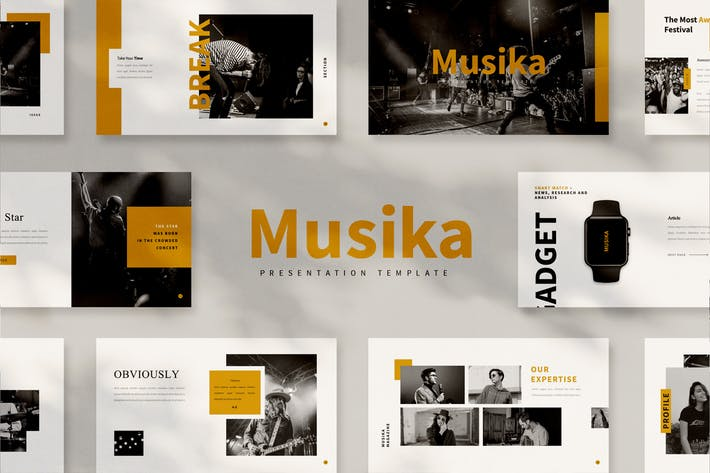 Thumbnail for Musika Google Slides