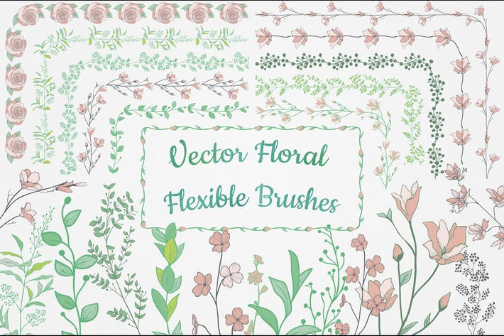 Thumbnail for Flexible Floral Brushes