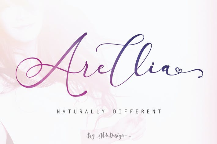 Thumbnail for Arellia | Beautiful Script Font