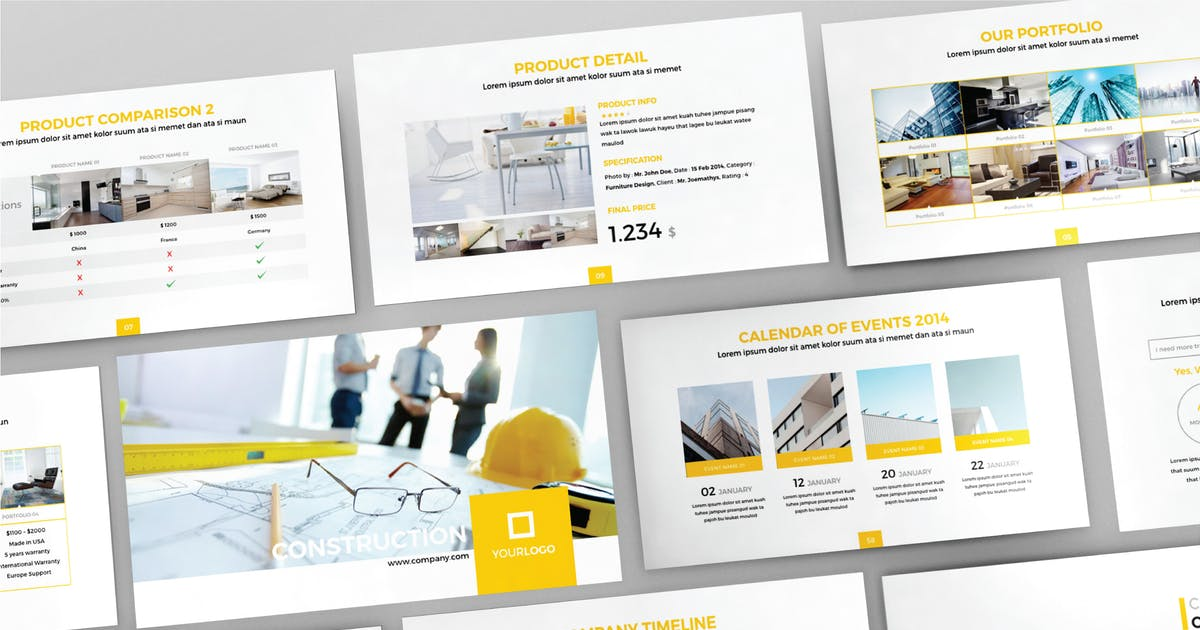 Download CONSTRUCTION - Multipurpose Keynote Template  V80 by Shafura