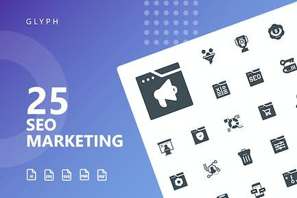 SEO Marketing Glyphe Icons
