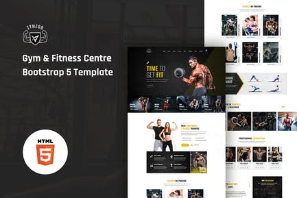 Zymzoo - Gym & Fitness Centre Bootstrap 5 Template