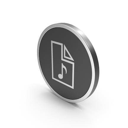 Silver Icon Audio File