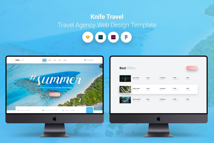 Thumbnail for Knife Travel - Travel Agency Web Design Template