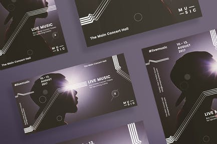 Music Concert Flyer and Poster Template