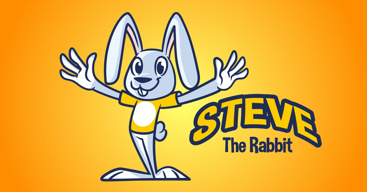 Download Cartoon Rabbit Mascot Logo by Suhandi