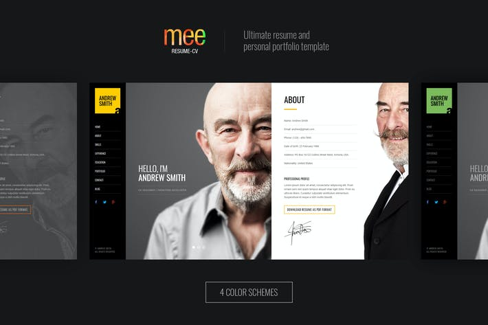 Thumbnail for MEE - Responsive Resume and Portfolio Template