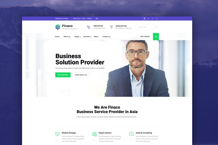 Thumbnail for Finaco - Business & Finance PSD Template