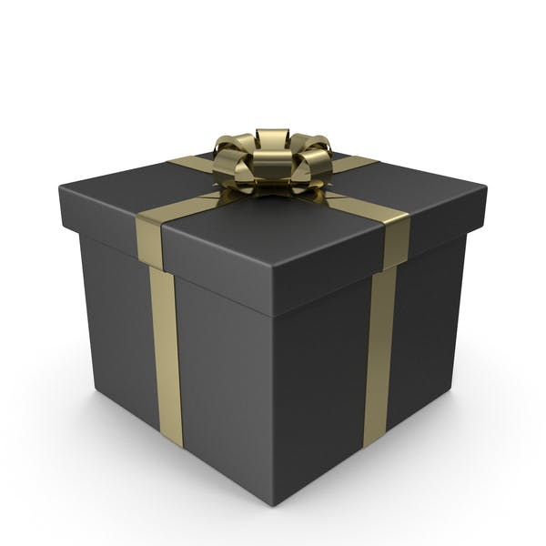 Thumbnail for Black Gift Box with Gold Bow