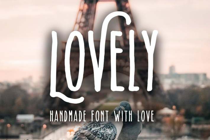 Cover Image For Lovely - Handmade Font With Love