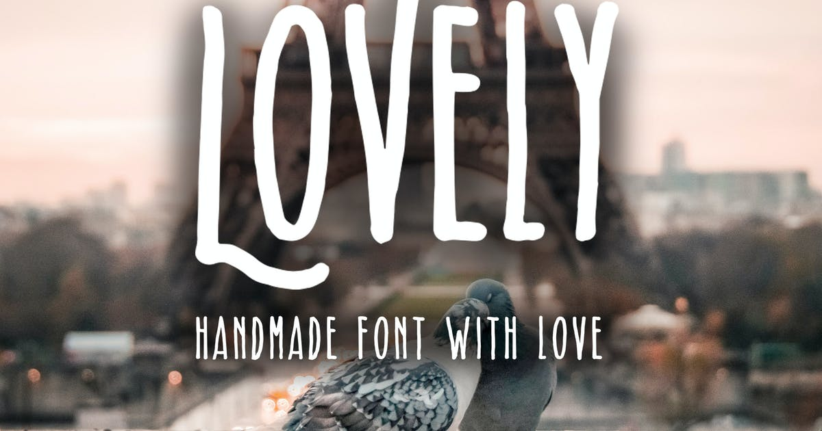 Download Lovely - Handmade Font With Love by jiwstudio