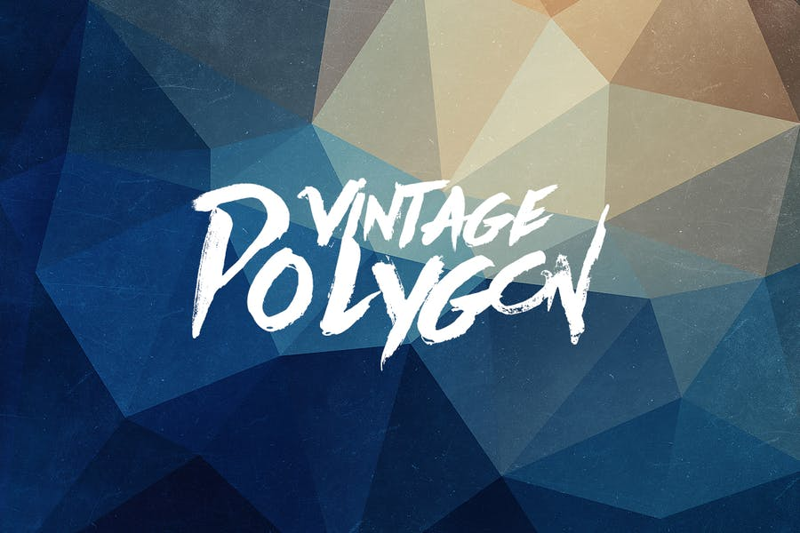Grunge Vintage Polygon Hintergrund Set