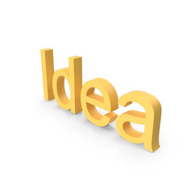 Thumbnail for Idea Text