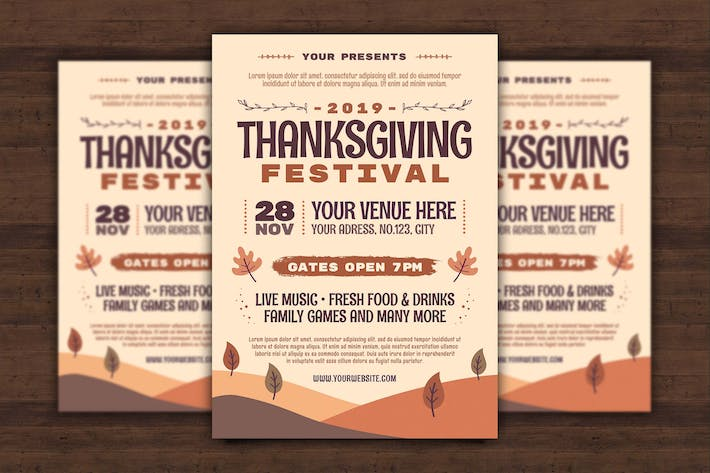 Thumbnail for Thanksgiving Day Flyer