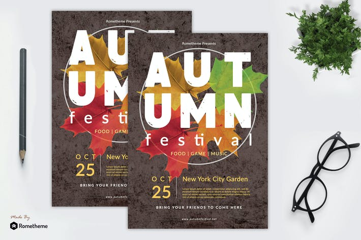 Thumbnail for Autumn Festival Flyer vol. 01