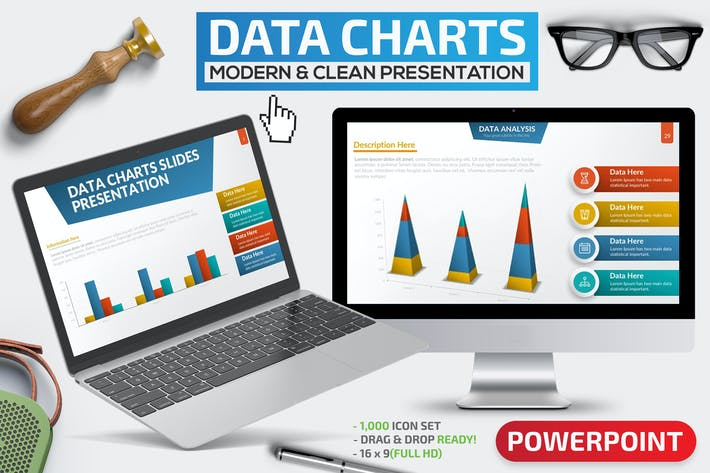 Thumbnail for Data Charts Powerpoint Presentation