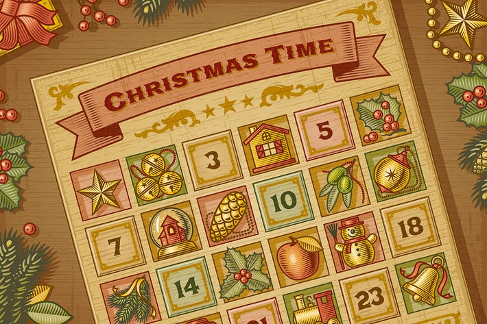 Thumbnail for Vintage Christmas Advent Calendar