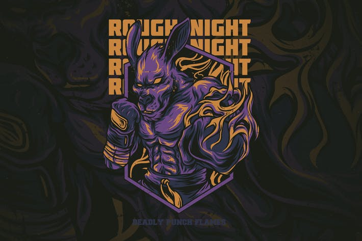 Thumbnail for Rough Night T-Shirt Design