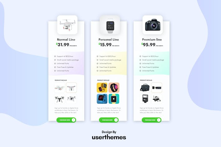 Thumbnail for Business Pricing Table UX Template PSD