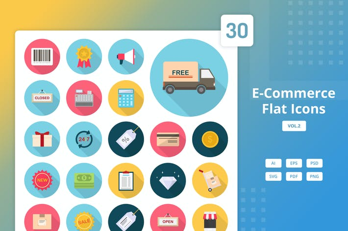 Thumbnail for E-Commerce - Icones plates Vol.2