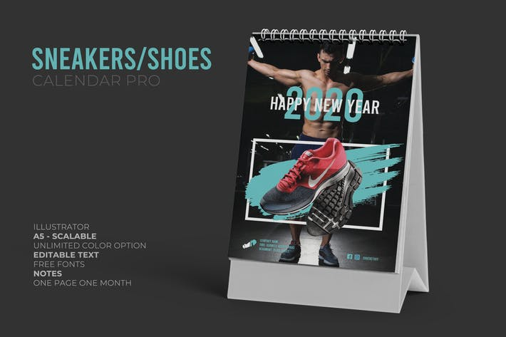 Thumbnail for 2020 Colorful Sneakers Sport Shoes Calendar Pro