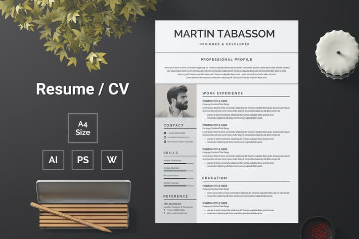 Thumbnail for Resume Template 98