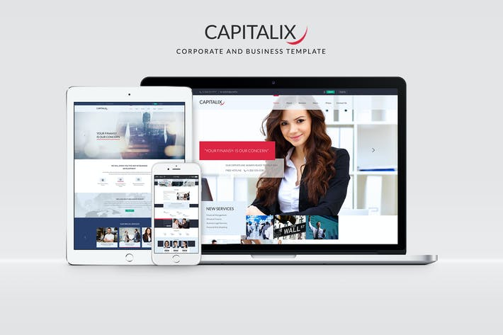 Thumbnail for Capitalix — Business Multipurpose PSD Template