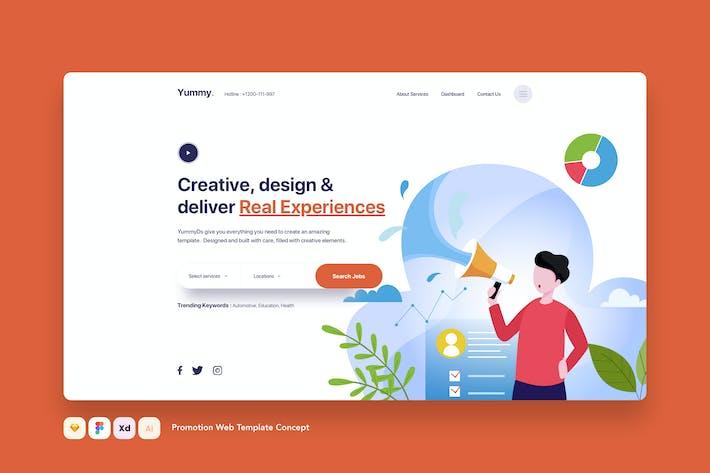 Thumbnail for Promotion Landing Web Template Concept