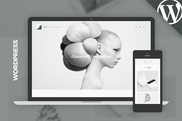Thumbnail for Inverto WP - Minimal WordPress Theme