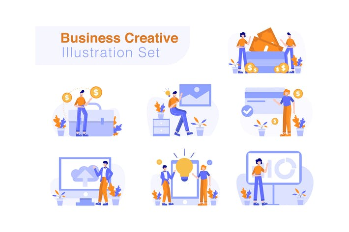 Thumbnail for Business Creative Illustration Set
