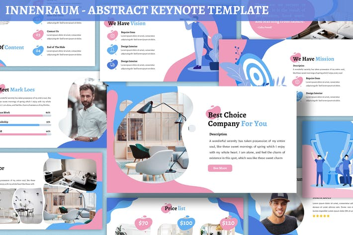 Thumbnail for Innenraum - Abstract Keynote Template