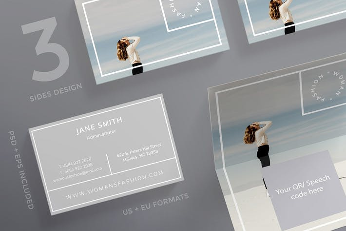 Thumbnail for Women Fashion Business Card Template