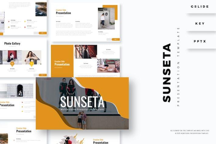 Thumbnail for Sunseta - Шаблон презентации