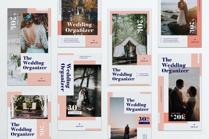 Thumbnail for Wedding Organizer Instagram Stories PSD & AI