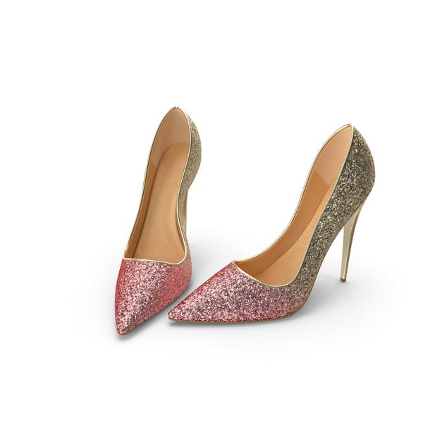 Thumbnail for Damen Schuhe Gold Rosa