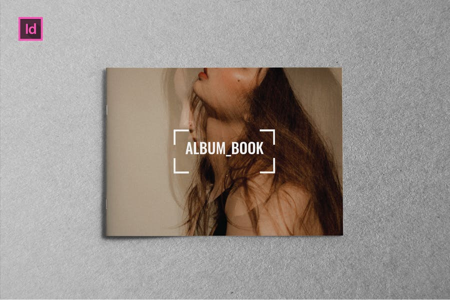 ALBUM BOOK - A5 Landscape Magazine template