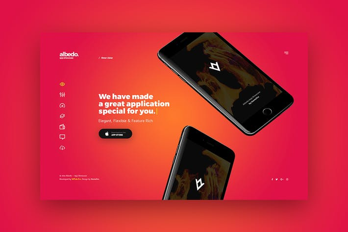 Thumbnail for Albedo - Full Screen App Showcase PSD Template