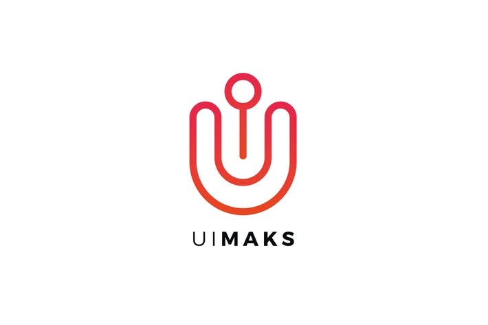Thumbnail for Ul Maks Letter Logo Template