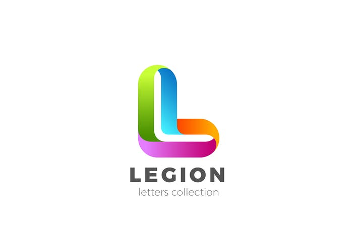 Thumbnail for Lettre L Logo design style ruban 3D